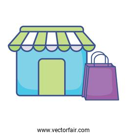 store and shopping bag