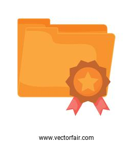 folder and medal icon