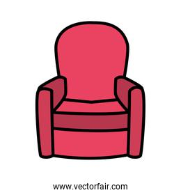 Isolated home chair vector design