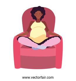 Isolated pregnant woman design icon