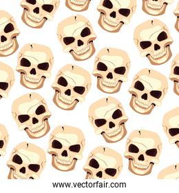 Halloween skull vector design icon