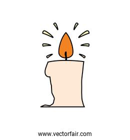 Halloween candle vector design icon