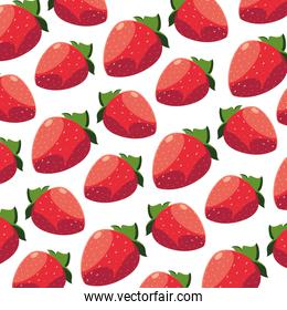 Isolated strawberry background vector design