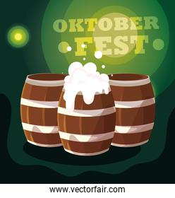 Germany oktoberfest festival vector design