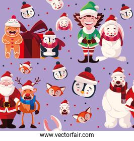 cute pattern with christmas design