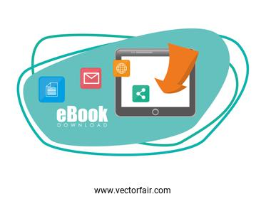 Book and e-learning icons design