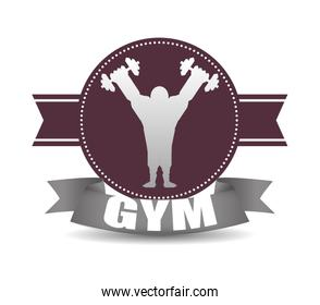 Gym and fitness icons design