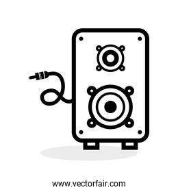 Flat illustration about speaker design