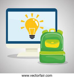 Flat illustration about back to school design