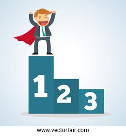 Flat illustration about success design, business related