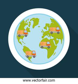 Flat illustration of free delivery design , editable vector