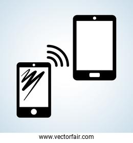 Smartphone design, contact and technology concept, editable vector