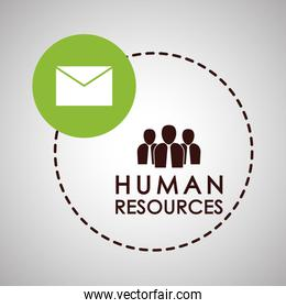 Human resources design. people icon. employee concept