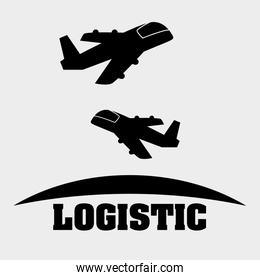 Logistic design. Shipping and Delivery conception