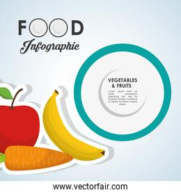 healthy  food design. infographic icon. menu concept