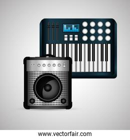 Music design. isolated illustration.entertainment concept