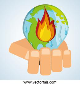 Save planet design. ecology icon. Think green concept