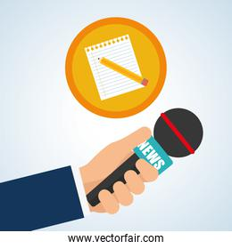 News design. Broadcasting concept. communication icon