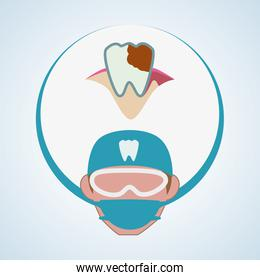 Dental care design. health concept. medical care icon, editable vector