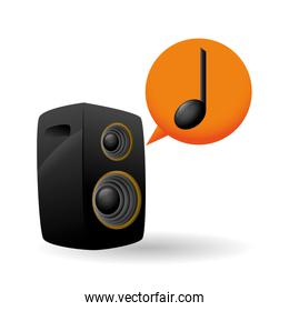 Music design. speaker  icon. Isolated illustration