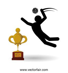 Volleyball design. Sport icon. Isolated illustration