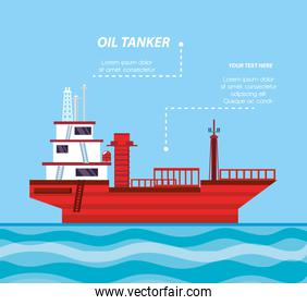 oil industry with ship freighter