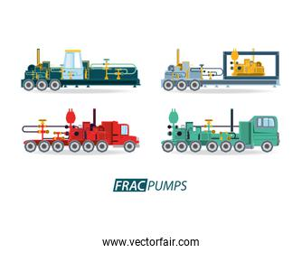 oil industry with transport vehicles