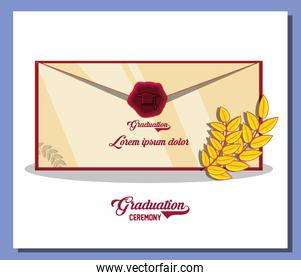 graduation card with envelope