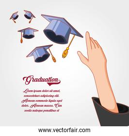graduation card with hat icon