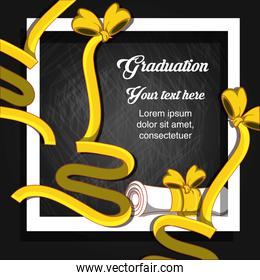 graduation card with diploma icon