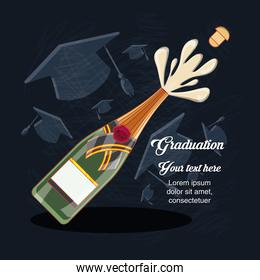 graduation card with wine bottle