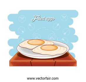 protein eggs frieds diet healthy food