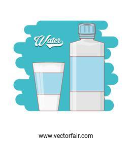 water bottle and glass icon