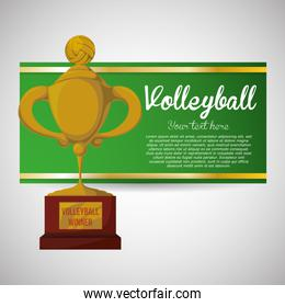 Volleyball design. Sport icon. Isolated illustration, editable vector