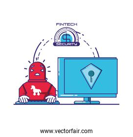 desktop computer with financial technology security
