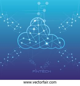 cloud computing financial technology icon