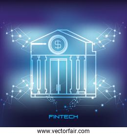 bank building financial technology icon