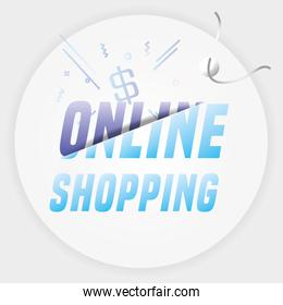 shopping online commercial tag