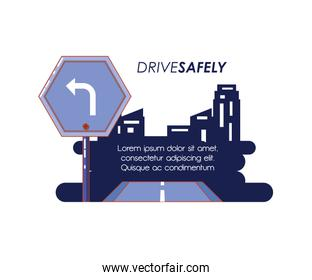 driver safely campaign label