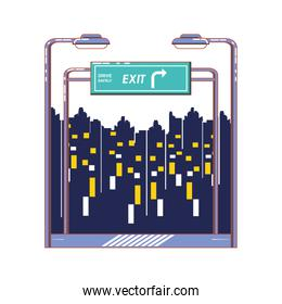 driver safely with exit signal