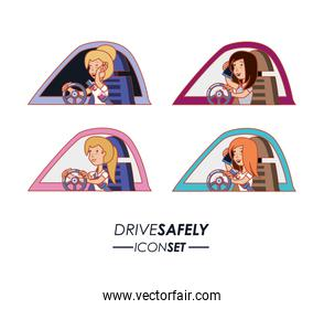 person driving for driver safely campaign