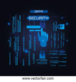 data security technology icons