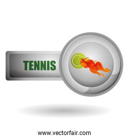 Tennis design. Sport icon. Isolated illustration, editable vector