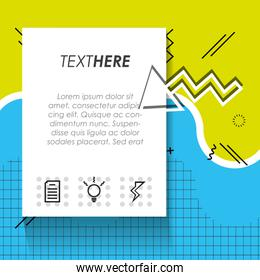 template infographic with figures geometrics
