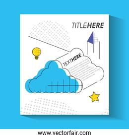 template infographic with cloud figure