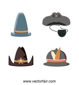set hats carnival accessories
