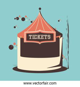 carnival tickets shop tent icon