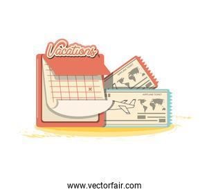 travel vacations set icons icon vector ilustration