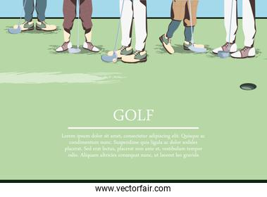 golfer feets on golf course
