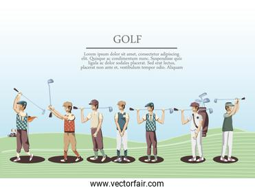 golf players in the course